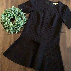 LOFT BLack Quilt Dress